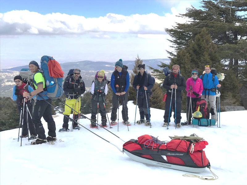 مغامرة ل 17 ناشطا وسط الثلوج في جبال عكار ترويجا للسياحة الريفية والبيئية